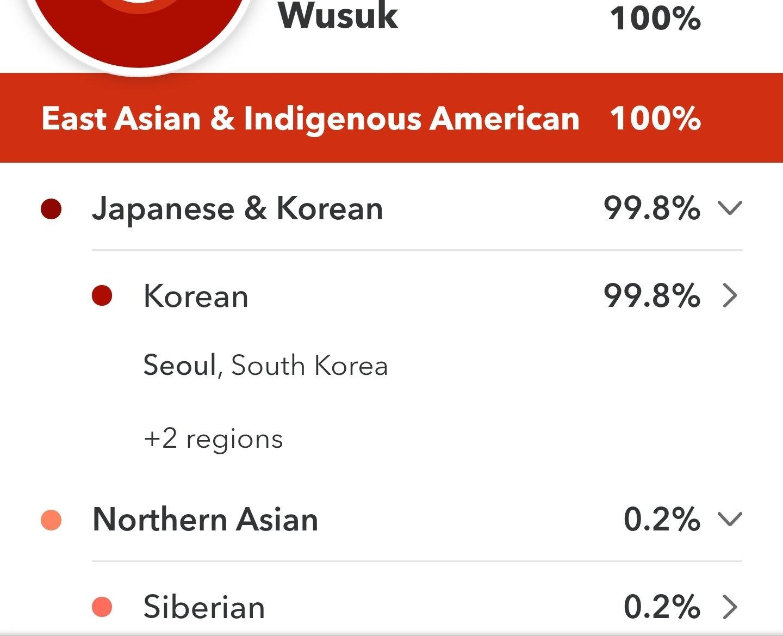 나는 순수 한국인 혈통